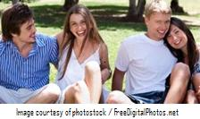 Teen couples by photostock